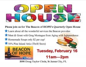 Quarterly Open House @ The Beacon of HOPE | Saint James City | Florida | United States